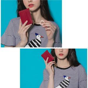 本革!ジップカードフォルダー ミニ ジップウォレット ジップカードフォルダー カードホルダー カードケース カード入れ キー リング ※メール便送料無料です。 sweetfashion