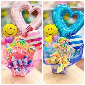 キャンディブーケ お祝い プレゼント バルーン メッセージ無料 ギフト プリティスマイル|sweetflower