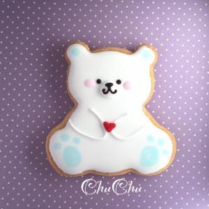 【アイシングクッキー】シロクマさん 10セット|sweets-chuchu