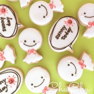 【アイシングクッキー】てるてるぼうずとメッセージ20セット|sweets-chuchu