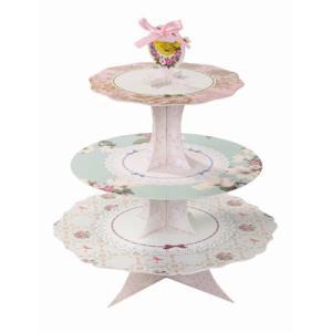 ケーキスタンド/リボン&レースTalking Tables(トーキングテーブル)[110-01-001]|sweets-chuchu