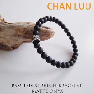 CHAN LUU チャンルー 正規品 シングル ストレッチブレスレット MATE ONYX ユニセックス メンズ レディース|sweetstyle