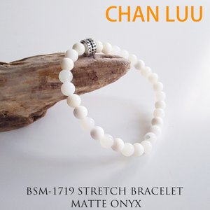 CHAN LUU チャンルー 正規品 シングル ストレッチブレスレット WHITE OPAL ユニセックス メンズ レディース|sweetstyle
