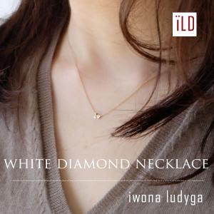 Iwona Ludyga イワナ ルディガ 14K ゴールドチェーン ホワイトダイヤ ネックレス レディースブランド sweetstyle