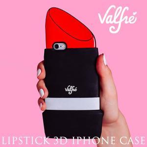 【閉店セール】Valfreヴァルフェー リップスティック 3D iphone6/6plus case シリコンアイフォンケース|sweetstyle