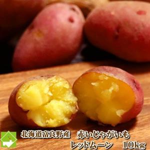 じゃがいも 北海道 さつまいものようなジャガイモ レッドムーン 10kg 送料無料