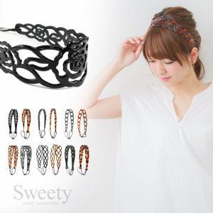 カチューム ラバーカチューム カチューシャ 柔らかいソフトなヘアバンド 2色×7種類展開