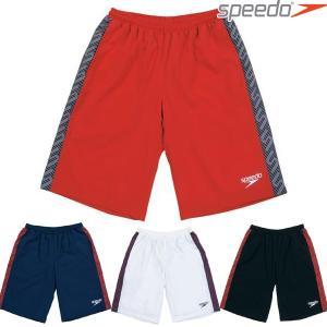 ハーフパンツ スピード SPEEDO メンズ モノグラム ウインドハーフパンツ SD12G11 トレーニング|swimclub-grasshopper