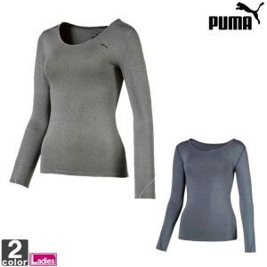 インナーシャツ プーマ PUMA レディース  517567 テックライト LS ヘザーTシャツ 1907 ゆうパケット対応 トレーニング アンダーシャツ|swimclub-grasshopper