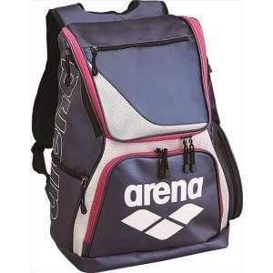 《送料無料》arena (アリーナ) エナメルリュック ARN-6431 NVY 1703 swimclub-grasshopper