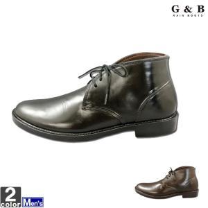 レインシューズ ジーアンドビー G&B メンズ GB-3142 レインブーツ 1907 雨靴 長靴