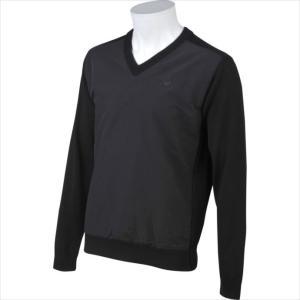 Le coq sportif GOLF (ルコックゴルフ) メンズ ハイブリットセーター ブラック QGMMJL05 1908 ゴルフ セーター|swimclub-grasshopper