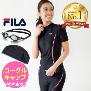 水着レディース フィットネス セパレート 半袖 体型カバー 30代 40代 50代 60代 大きいサイズ フィラ FILA fila