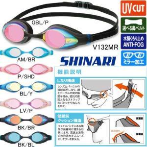 ビュー(VIEW)クッション付きミラーゴーグルSHINARI V132MR|swimshop-jone