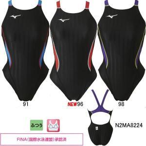 (ネコポス可)ミズノ(MIZUNO)女性用 競泳水着 ストリームアクセラ ウイメンズミディアムカット N2MA8224 swimshop-jone