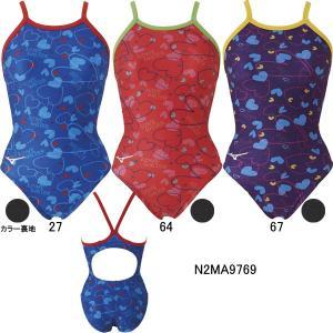 (ネコポス可)ミズノ(MIZUNO)女性用トレーニング水着 エクサスーツウイメンズミディアムカット N2MA9769 swimshop-jone