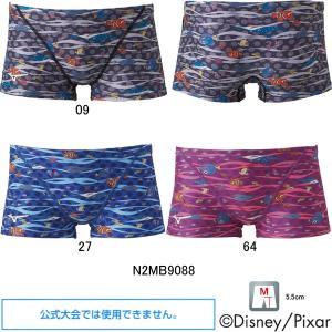 (ネコポス可)ミズノ(MIZUNO)男性用 トレーニング水着 ファインディングニモ(Finding Nemo)エクサスーツメンズショートスパッツN2MB9088 swimshop-jone