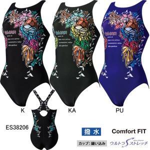 エレッセ(ellesse)女性用 フィットネス水着 ウイメンズプリントワンピース ES38206|swimshop-jone