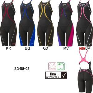 (ネコポス可)スピード(SPEEDO)女性用 競泳水着 Fastskin XT Active Hybrid2 ウイメンズニースキン SD48H02|swimshop-jone