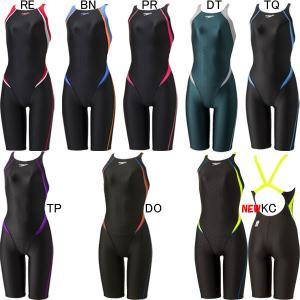 (ネコポス可)スピード(SPEEDO)女性用 競泳水着 FLEX ΣII レディスオープンバックニースキン SCW11909F|swimshop-jone
