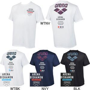 (ネコポス可)アリーナ(ARENA) BISHAMON メンズTシャツ AMUQJA52 swimshop-jone