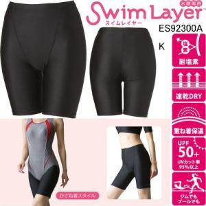 エレッセ(ellesse) レディススパッツ(スイムレイヤー3.5分丈)   ES92003A K|swimshop-jone