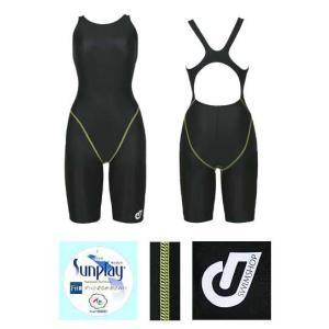 (ネコポス可)スイムショップオリジナル(SWIMSHOP)レディースハーフスーツオープンバック JW-0851 BLK|swimshop-jone