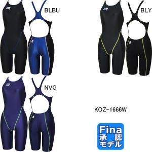 コーズ(KOZ)女性用 競泳水着 ウイメンズハーフスパッツ KOZ-1666W|swimshop-jone