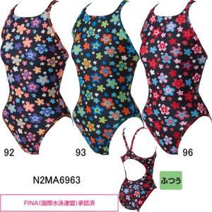 ミズノ(MIZUNO)女児用 トレーニング水着 エクサスーツジュニアミディアムカット N2MA6963|swimshop-jone
