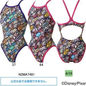 ミズノ(MIZUNO)女児用トレーニング水着 トイストーリー(Toy Story)エクサスーツジュニアミディアムカット N2MA7481|swimshop-jone