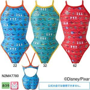 ミズノ(MIZUNO)女性用トレーニング水着 ファインディングニモ(Finding Nemo)エクサスーツウイメンズミディアムカット N2MA7780|swimshop-jone