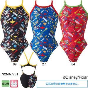 ミズノ(MIZUNO)女性用トレーニング水着 トイストーリー(Toy Story)エクサスーツウイメンズミディアムカット N2MA7781|swimshop-jone