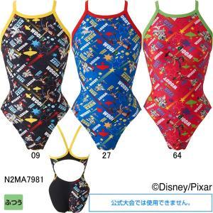ミズノ(MIZUNO)女児用トレーニング水着 トイストーリー(Toy Story)エクサスーツジュニアミディアムカット N2MA7981|swimshop-jone