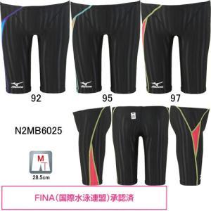ミズノ(MIZUNO)男性用 競泳水着 ストリームアクセラ メンズハーフスパッツ N2MB6025|swimshop-jone