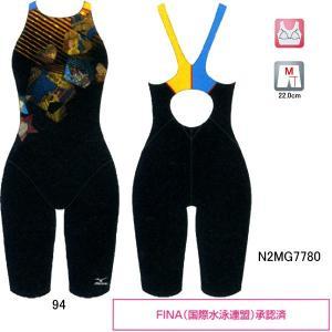 ミズノ(MIZUNO)ディズニー(美女と野獣)女性用 競泳水着 ストリームアクティバ ウイメンズハーフスーツ(オープン) N2MG7780|swimshop-jone