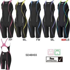 スピード(SPEEDO)女性用 競泳水着 FLEX Cube ウイメンズニースキン SD46H03|swimshop-jone
