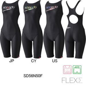 スピード(SPEEDO) 女性用 フィットネス水着 ウイメンズセミオープンバックニースキン SD56N50F swimshop-jone