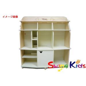 DWE ディズニー英語システム BOOKCASE 白木の収納棚4段タイプ クリーニンク゛済 2012年購入 美品 ワールドファミリー 20180905228 中古|swing-kids
