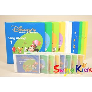 DWE ディズニー英語システム シングアロング絵本とCD クリーニング済 2016年購入 CD全未開封 ワールドファミリー 20190506202 中古|swing-kids