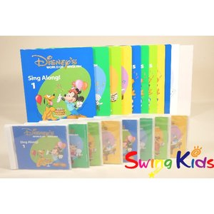 DWE ディズニー英語システム シングアロング絵本とCD クリーニング済 2017年購入 CD未開封...