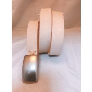 ベルト 本革製 ニッケル製プレーンバックル付き 4cm幅 3.5mm厚 ヌメ革ベルト ウエスト130cmまで対応お客様のサイズに裁断穴開け致します 送料無料|swingdog