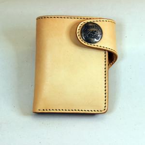 財布 本革製 ショートサイズウォレット 当店オリジナル ナチュラル 送料無料|swingdog