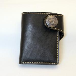 財布 本革製 ショートサイズウォレット 当店オリジナル ブラック 送料無料|swingdog