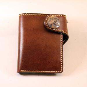 財布 本革製 ショートサイズウォレット 当店オリジナル ブラウン 送料無料|swingdog