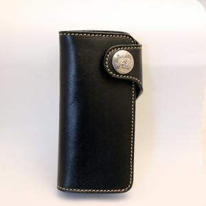 財布 本革製 ロングサイズウォレット 当店オリジナル ブラック 送料無料|swingdog