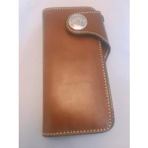財布 本革製 ロングサイズウォレット 当店オリジナル ブラウン 送料無料|swingdog