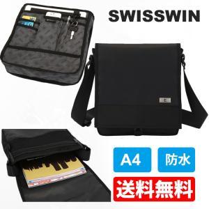 SWISSWIN SW9402 ショルダーバッグ ipad バッグ メンズ ボディバッグ ショルダーバッグ 斜めカバン A4サイズ対応 通勤用にお勧めの画像