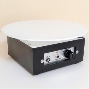 ターンテーブル スピード調整約60〜5秒 左右切替 自動首振り角度調整 AC電源 直径210mm 耐荷重6.0kg 撮影用 ディスプレイ用|switch-kobo