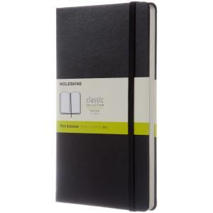 モレスキン定番ロングセラーのひとつ、プレーン(無地)ノートブック ラージサイズ。 Moleskine...
