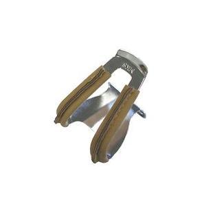 自転車 ペダル MKS 三ヶ島 Half clip w/leather ハーフクリップ レザー